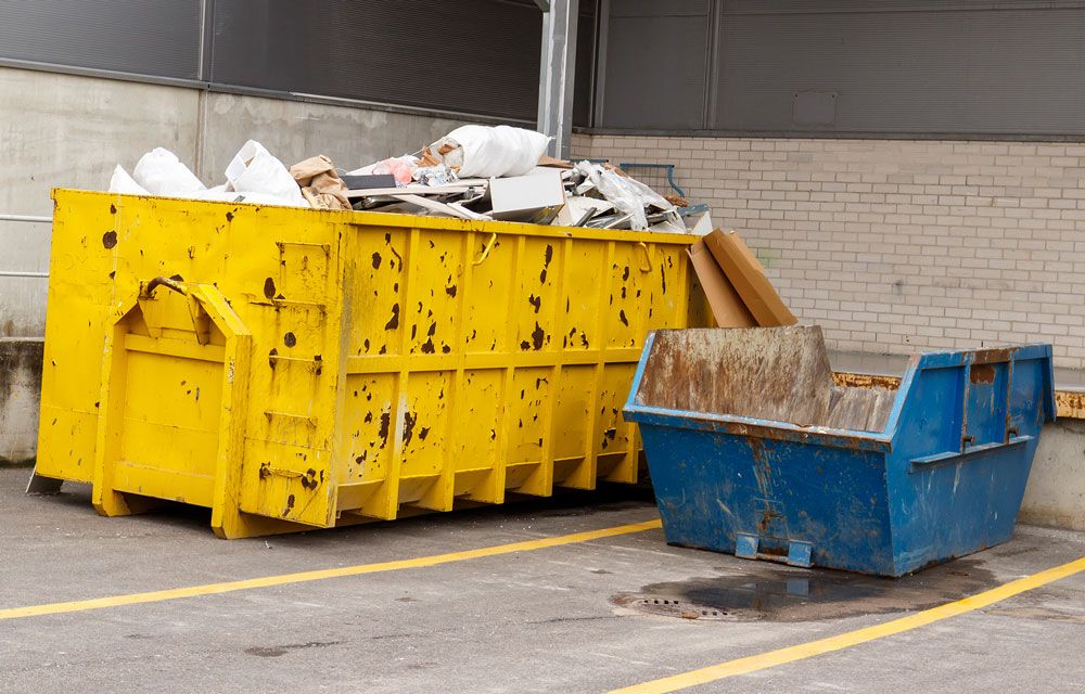 A range of skips available for hire